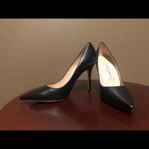 Jimmy Choo Women's Black Leather Pumps